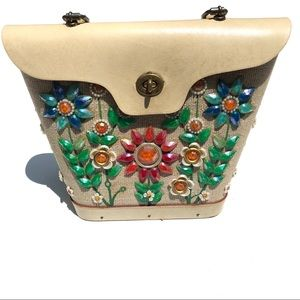 Vintage Enid Collins flower power jewel purse